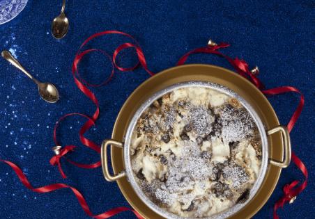 ברד פודינג שוקולד, בננות ואגוזי לוז