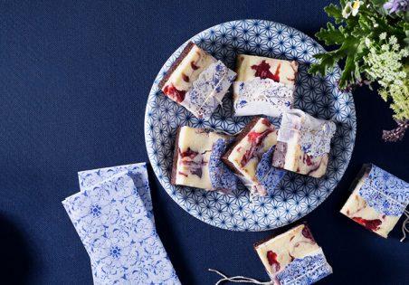 בראוניז שוקולד, גבינה וריבת פטל