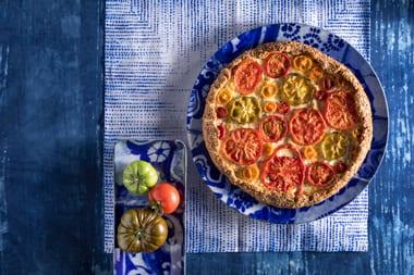 גאלט כוסמין עם גבינות ועגבניות