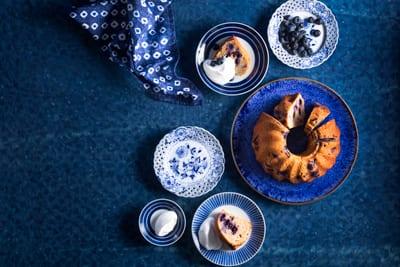 עוגת יוגורט ואוכמניות